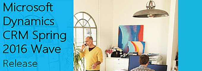 Microsoft Dynamics CRM Spring 2016 Wave Banner Image
