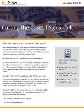 Cutting the cost of sales